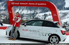 audi quattro driving experience timo scheider and an audi a1 audi mud dub quattroworld