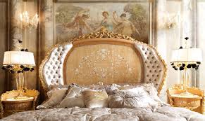 Royal King Bed Hand Made Carvings Make This Bedroom Plush And Royal