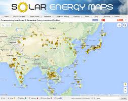East China Sea Map Solar Energy Maps Asia Solar Map Solar Farms U0026 Solar Parking Lots
