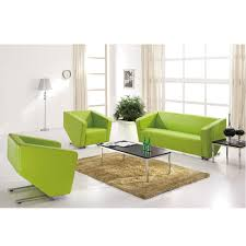 Green Leather Sofa by Office Product List