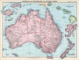 Australia Population Map New Zealand Colony