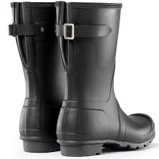 ladies short biker boots amazon com hunter womens original short back adjustable rain