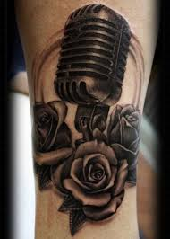 microphone and rose tattoo pictures to pin on pinterest tattooskid