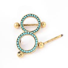 gold piercing rings images 2pcs nipple ring bohemian roung nipple shield ring body jewelry jpg