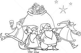 christmas santa claus coloring vector illustration igor