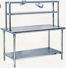 Kitchen Work Tables Islands by China Assembling Stainless Steel Work Table With Overshelves