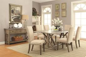 coaster webber transitional style dining table with metal top and