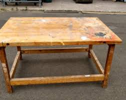 wooden work work table etsy