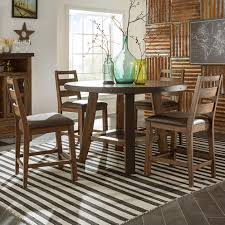 Rustic Round Dining Room Tables Intercon Taos 5 Piece Rustic Round Counter Table Set Wayside