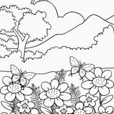 nature scene coloring pages awesome nature scene coloring sheets at nature coloring pages with