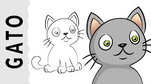 imágenes de gatos fáciles para dibujar cómo dibujar un gato 1 paso a paso con dibujart com youtube