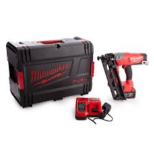m18cn16ga 0x fuel finishing nailer with charger and battery in