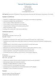 Financial Management Specialist Resume Revenue Specialist Sample Resume