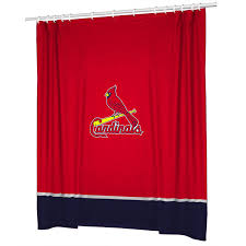 Curtains St Louis St Louis Cardinals Combo Shower Curtain 4 Pc Towel Set
