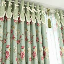 Shabby Chic Curtains For Sale by Floral Green Blackout Shabby Chic Curtains