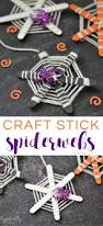 craft stick spiderwebs halloween craft typically simple