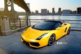 yellow lamborghini gallardo gallery lamborghini gallardo spyder on d2 forged wheels gtspirit