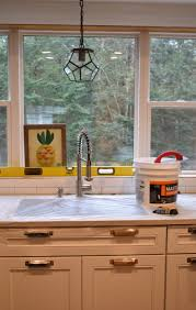 How To Install Kitchen Tile Backsplash Subway Tile Kitchen Backsplash Installation Jenna Burger