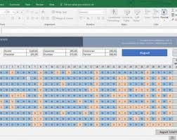 monthly employee timesheet for 2017 excel template