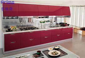 cuisine prix usine prix d usine acrylique avec des armoires de cuisine en aluminium les