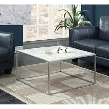 convenience concepts gold coast faux marble end table convenience concepts gold coast faux marble coffee table gold white
