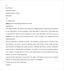 assistant cover letter sle marketing assistant cover letter 8 free documents in pdf