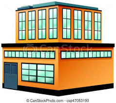 two storey building two storey building painted in yellow illustration eps vectors