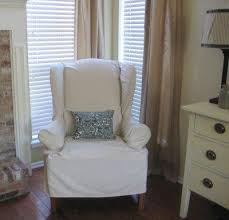 white wing chair slipcover stylish slipcovers for wingback chairs