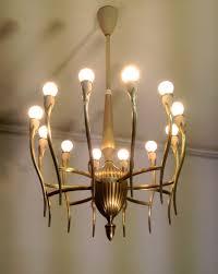 Brass Home Decor by Brass Italian Mid Century Chandelier In The Style Of Guglielmo