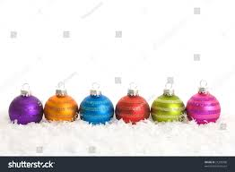 funky bright striped ornaments lined snow stock photo 21230998