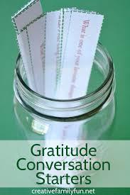 gratitude conversation starters gratitude starters and holidays