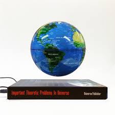 world globe home decor creative world map magnetic levitation floating globe book base