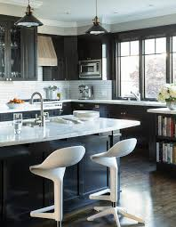Kitchen Cabinet Textures Black Kitchen Cabinets With Textures Wood Vent Hood Contemporary