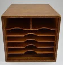 Vintage Desk Organizers Vintage Handmade Wood Desktop Mail Organizer With Dovetail Corners