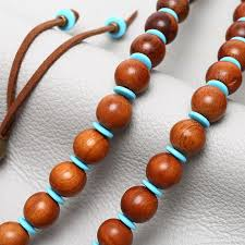 wood beads necklace images Aobei pearl handmade turquoise wooden beads necklace for jpg