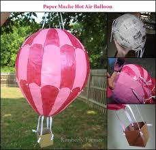 mommyhood craft corner paper mache air balloon piñata or