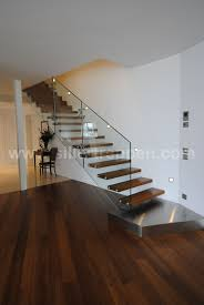 First Home Renovation Floating Staircase by Modern Floating Stair With Structural Glass Railing Wood Treads