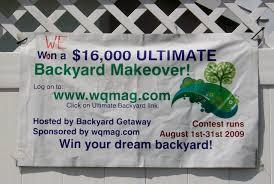 backyard makeover contest backyard getaway