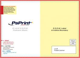 eddm postcard template download postcard design and mailing