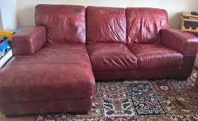 cherry brown leather sofa l shaped cherry red leather sofa in chesham buckinghamshire gumtree
