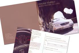 lexus uk brochures print design