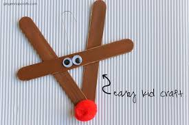 snap crafts popsicle stick rudolf ornament tutorial