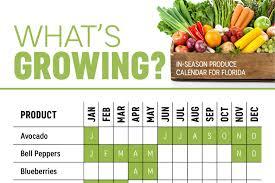 what u0027s in season florida produce calendar infographic