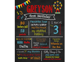 1st birthday chalkboard circus birthday chalkboard sign ferris wheel