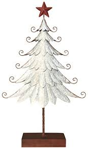 silver metal tabletop tree with