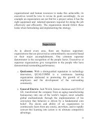 One Organization Human Resource Management Competitive Advantage