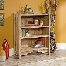 Sauder Bookcase Sauder Viabella Collection Antigua Chestnut 3 Shelf Bookcase