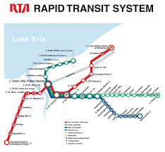 Ohio Cities Map by Official Map Rapid Transit Of Cleveland Ohio Transit Maps