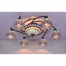 Twig Light Fixtures 8 Light Stained Glass Ceiling Light Fixtures Twig
