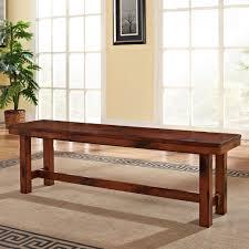 we furniture solid wood dark oak dining bench kitchen cm set table